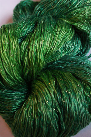 Artyarns Ensemble Glitter Light Yarn silk & Cashmere Yarn in H2G Lime Greens