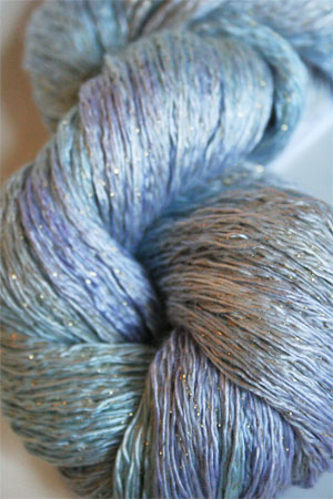 Artyarns Ensemble Glitter Light Yarn silk & Cashmere Yarn in H16G Winter Bouquet with Silver