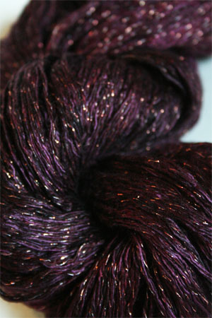 Artyarns Ensemble Glitter Light Yarn silk & Cashmere Yarn in H11G Black Cherry