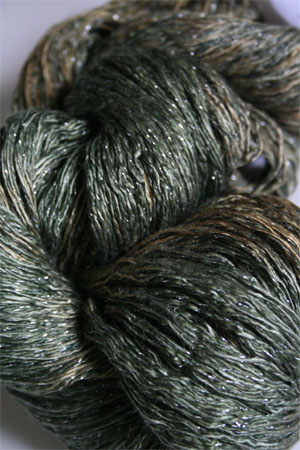 Artyarns Ensemble Glitter Light Yarn silk & Cashmere Yarn in H9S Forest Greens with Silver