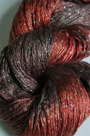 Artyarns Ensemble Glitter Light Yarn silk & Cashmere Yarn in H6S Burnt Orange