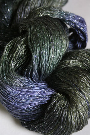 Artyarns Ensemble Glitter Light Yarn silk & Cashmere Yarn in H4 Scarab with Silver