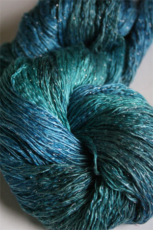 Artyarns Ensemble Glitter Light Yarn silk & Cashmere Yarn in H3S Sargasso Sea with Silver
