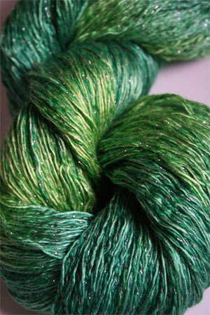 Artyarns Ensemble Glitter Light Yarn silk & Cashmere Yarn in H2S Lime Greens