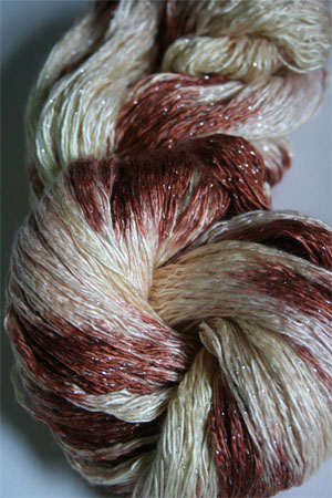 Artyarns Ensemble Glitter Light Yarn silk & Cashmere Yarn in H27S Cake with Silver