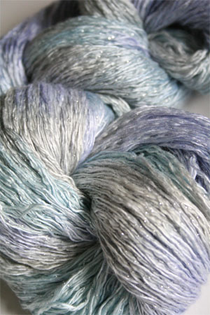 Artyarns Ensemble Glitter Light Yarn silk & Cashmere Yarn in H16S Winter Bouquet with Silver