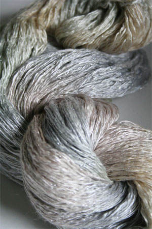 Artyarns Ensemble Glitter Light Yarn silk & Cashmere Yarn in H14S Cloudy with Silver