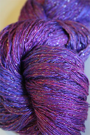 Artyarns Ensemble Glitter Light Yarn silk & Cashmere Yarn in H5S Violetas with Silver