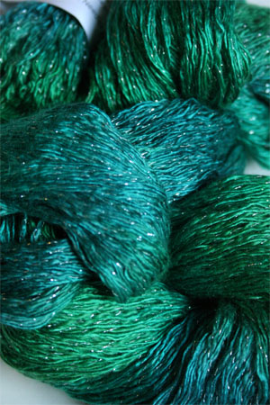 Artyarns Ensemble Glitter Light Yarn silk & Cashmere Yarn in H13 Emerald City - Silver