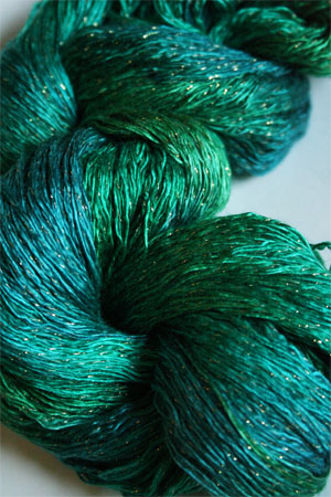 Artyarns Ensemble Glitter Light Yarn silk & Cashmere Yarn in H13 Emerald City - Gold