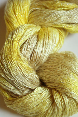 Artyarns Ensemble Glitter Light Yarn silk & Cashmere Yarn in H28 Citronella - Silver