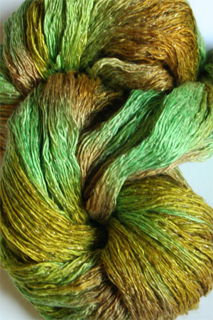 Artyarns Ensemble Glitter Light Yarn silk & Cashmere Yarn in H32 Go Green - Gold