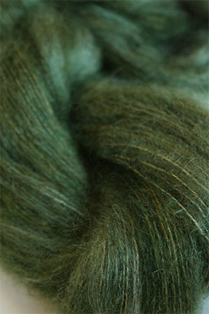Artyarns HALO Slik and Mohair Knitting Yarn in H9 Forest Tonal