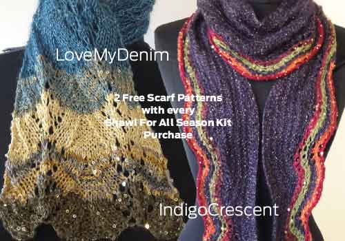 Free Patterns with Any All Seasons Shawl Purchase!