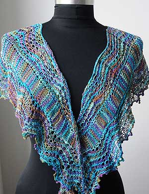 Colorgames Shawl front