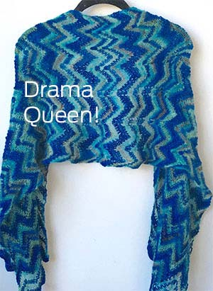 Artyarns KnitKit Drama Queen Shawl Blue