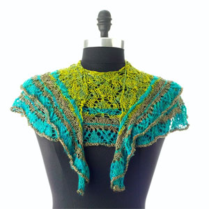 Artyarns Knitting Kit - Every Which Way Shawl in Forest Greens