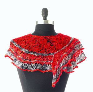 Artyarns Knitting Kit - Every Which Way Shawl in FIRESTORM