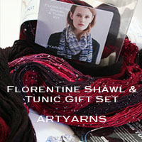 The Florentine Multi-Fiber Shawl or Tunic Gift Boxed Kit