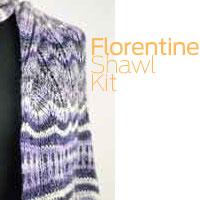 ARTYARNS Florentine Shawl KNITKIT featuring Merino Cloud