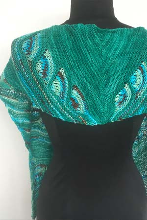 Artyarns Peacock Shawl Kit