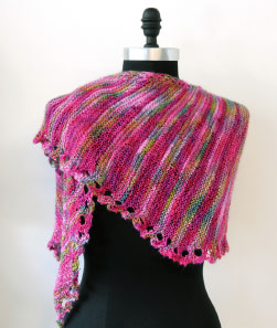 2 Color Sideways Garter Shawl Limited Time Offer - good till Sept 1