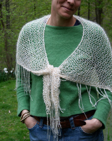 Free Knitting Pattern For Elegant Easy Knit Wedding Shawl Or Wrap