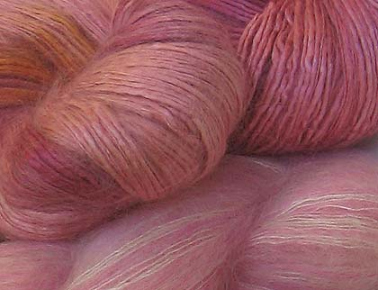 Embellished Yarns Yarn with Beads, sequins and glitter