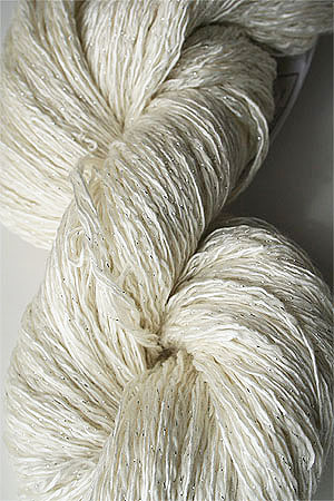Artyarns Ensemble Glitter Light Yarn silk & Cashmere Yarn in 250 Snow White with Silver
