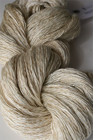Artyarns Ensemble Glitter Light Yarn silk & Cashmere Yarn in 2301 Bone with Gold