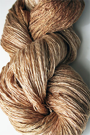 Artyarns Ensemble Glitter Light Yarn silk & Cashmere Yarn in 2321 Toasted Almond with Gold