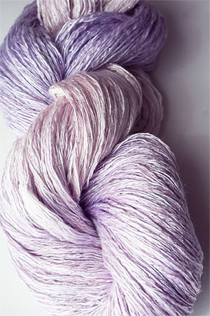 Artyarns Ensemble Glitter Light Yarn silk & Cashmere Yarn in 2312 Lavender Blush with Silver