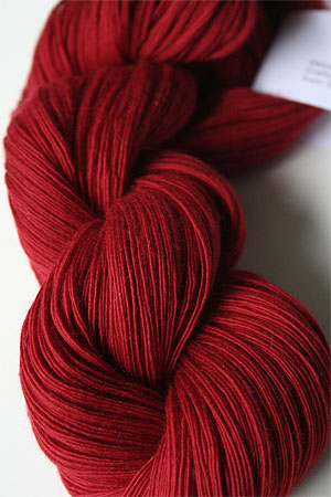 Cashmere 5 worsted weight cashmere knitting yarn in 244 Crimson Red