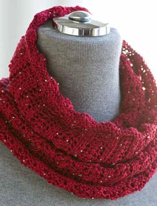 One One Beaded Silk Pearl Neckwarmer Knitting Pattern