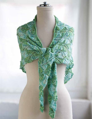 Diamond Lace Wrap Knitting Pattern
