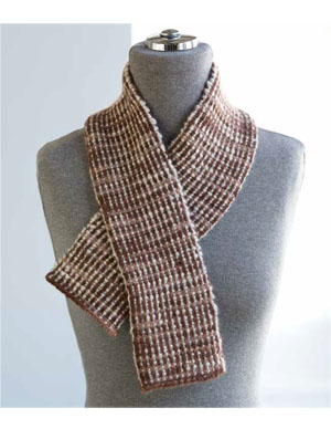 Corrugated Rib Cashmere Scarf from One + One by Iris Schreier