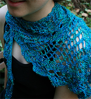 F256 Alyssa Shawl Artyarns Pattern for Beaded Silk Light