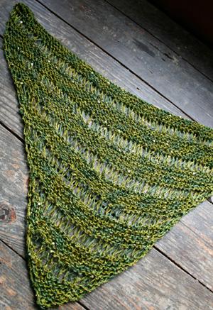 Free Knitting Pattern For Nefertiti Shawlette Scarf Or Larger Shawl