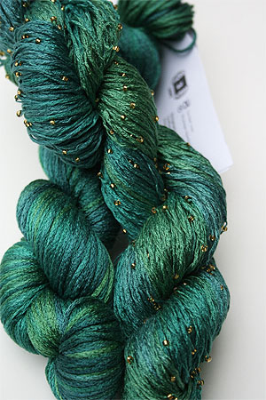 Artyarns Beaded Silk Pearl Knitting Yarn H13G  Emerald City!