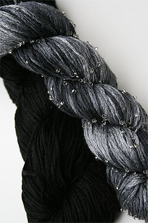 Artyarns Beaded Silk Pearl Knitting Yarn H18S  Grey Tonal!