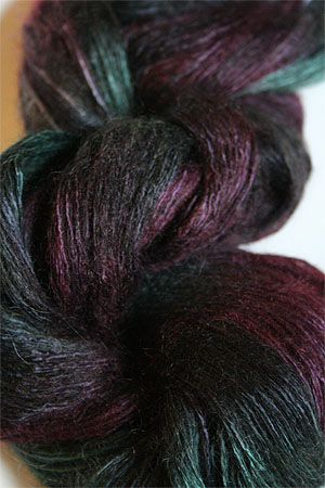 Artyarns Rhapsody Light Yarn in H17 Emerald Purples