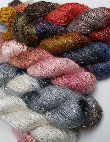 artyarns silk rhapsody with beads and sequin