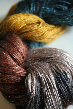 Artyarns Rhapsody Glitter Worsted SIlk Mohair in 1009 Sheik with Gold