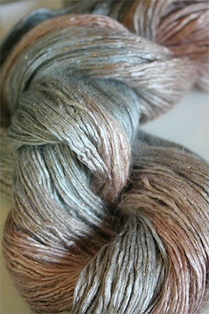 Artyarns Rhapsody Glitter Worsted SIlk Mohair in H20 Dunes with Gold