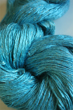 Artyarns Rhapsody Glitter Worsted SIlk Mohair in 107 Oceans with Gold