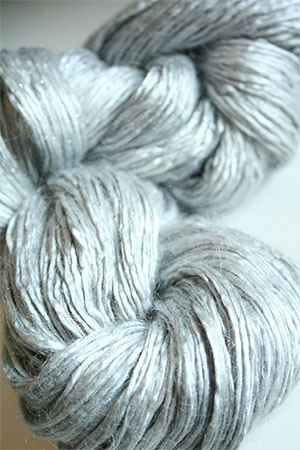 Artyarns Rhapsody Glitter Worsted SIlk Mohair in 272 Silver Grey with Silver