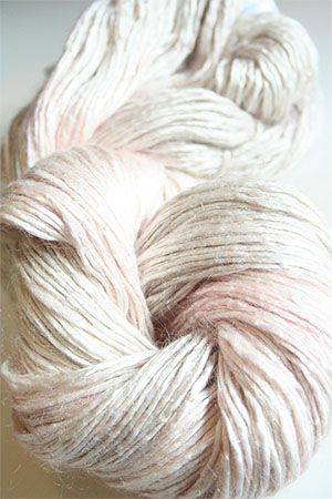 Artyarns Rhapsody Glitter Worsted SIlk Mohair in 167 Oyster with Silver