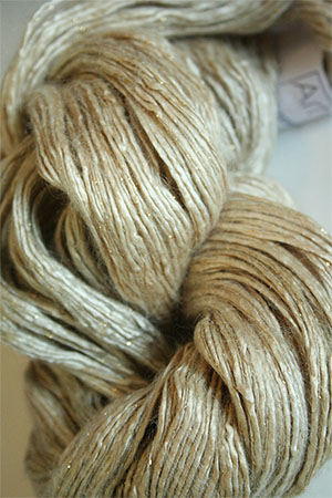 Artyarns Rhapsody Glitter Worsted SIlk Mohair in H12 Antique Ivories with Gold