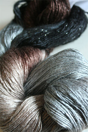 Artyarns Silk Rhapsody Glitter in 144 Earthtones with Silver