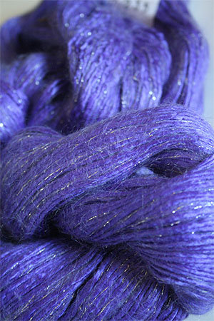 Artyarns Rhapsody Glitter Worsted SIlk Mohair in 125 Wild Iris with Silver